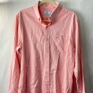 Southern tide trim fit button down shirt pink L